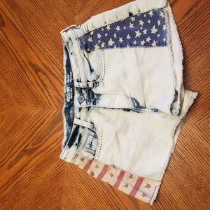 High rise USA 4th of July shorts